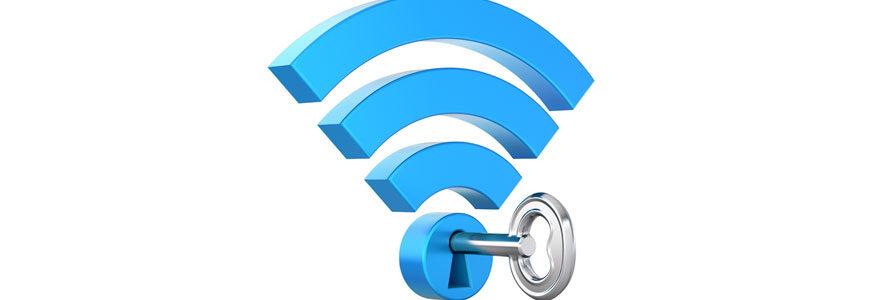 Logo wifi avec cadenas